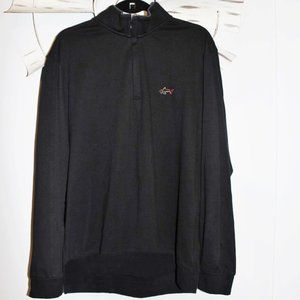 Greg Norman Black 1/4 Zip Performance Jacket L